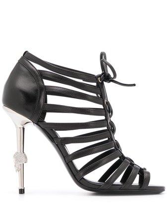 Philipp Plein Skull heeled sandals