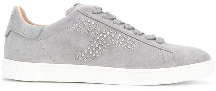 studded lace-up sneakers