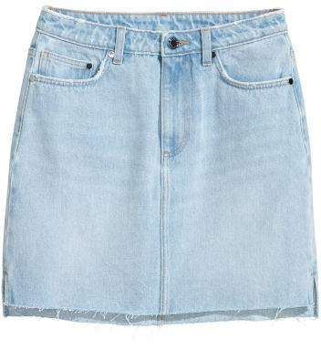 Denim Skirt - Blue