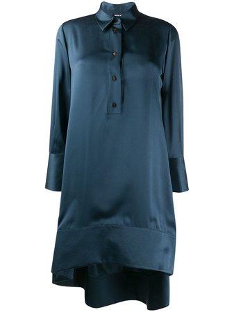 Button Down Silk Shift Dress