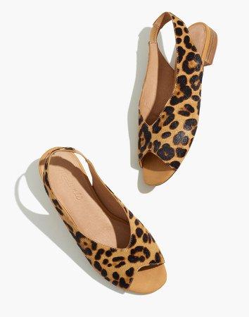 The Tavi Slingback Sandal in Leopard Calf Hair