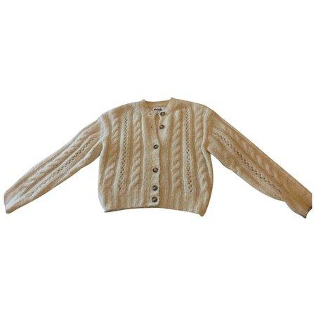 Wool cardigan Rouje Ecru size 34 FR in Wool - 9070085