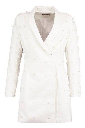 Pearl Tailored Blazer Dress | Boohoo