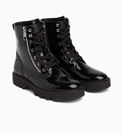 Patent Leather Ankle Boots CALVIN KLEIN® | 00000R0750BLK