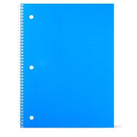Pen + Gear 1 Subject Notebook, Wide Ruled, 80 Sheets, Blue - Walmart.com