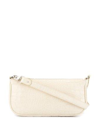 By Far Rachel Croco-Effect Shoulder Bag 18FWRCLSCEDMED White   Farfetch