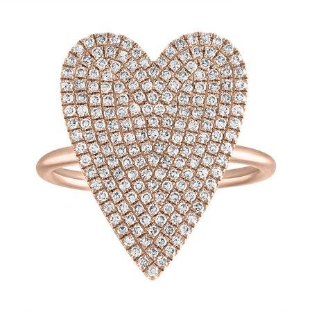 Pave Jumbo Heart Ring – Stephanie Gottlieb