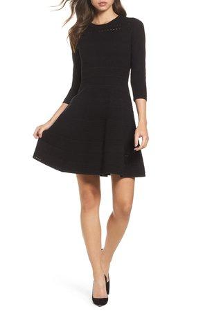 Eliza J Fit & Flare Sweater Dress | Nordstrom
