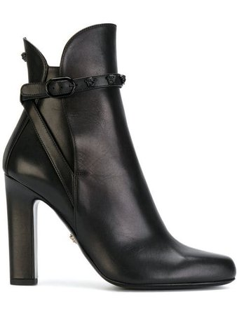Versace Medusa buckle ankle boots $1,295 - Shop SS19 Online - Fast Delivery, Price