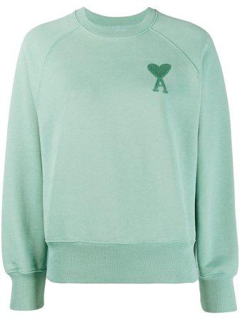 Green AMI Paris Ami de Coeur sweatshirt with Express Delivery - Farfetch