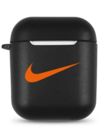 Black and Orange Nike AirPods