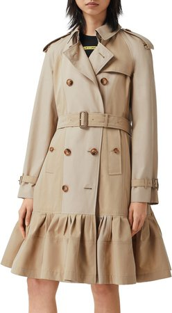 Tulip Double Breasted Trench Coat