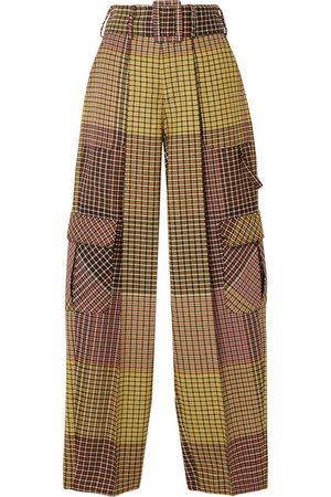 Rosie Assoulin | Belted houndstooth wool wide-leg pants | NET-A-PORTER.COM