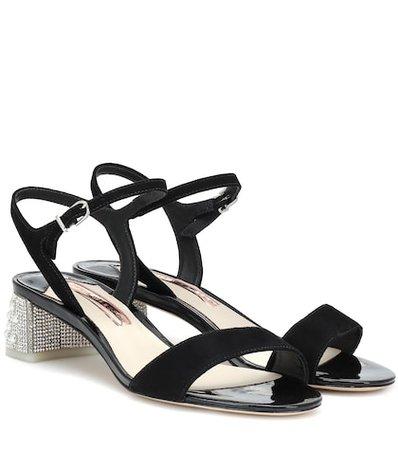 Amber embellished suede sandals