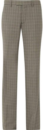 Le Monsieur Checked Wool And Mohair-blend Straight-leg Pants - Gray