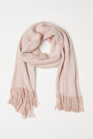 Knit Scarf - Powder pink - | H&M US
