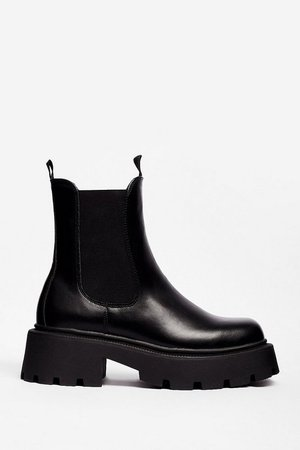 Build a Bridge Faux Leather Chelsea Boots   Nasty Gal