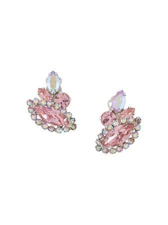 Pink Susan Caplan Vintage 1950s G. Sherman jewels clip-on earrings ER023750 - Farfetch