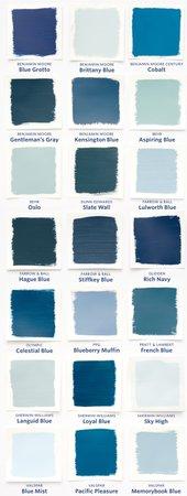 blue paints