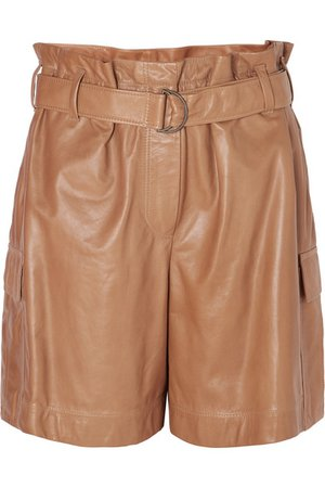 Brunello Cucinelli   Belted leather shorts   NET-A-PORTER.COM