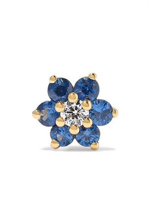 Maria Tash | 5.5mm 18-karat gold, sapphire and diamond earring | NET-A-PORTER.COM