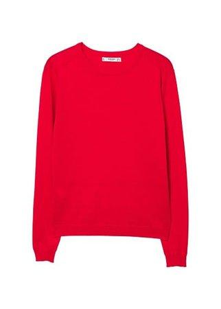 MANGO Fine-knit cotton sweater