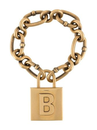 Shop gold Balenciaga lock chain bracelet with Express Delivery - Farfetch