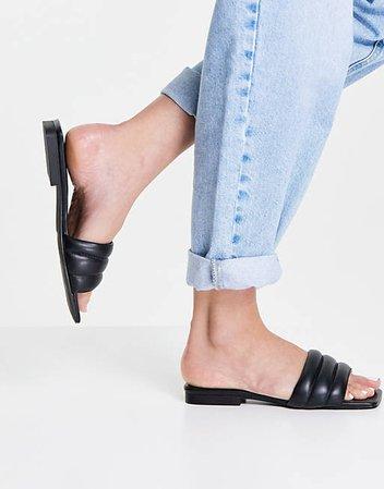 Topshop Pampas padded sandals in black | ASOS