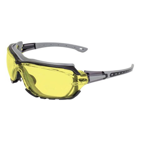 Global Vision Octane Padded Motorcycle Sport Riding Sunglasses Gray Yellow Lens - Walmart.com - Walmart.com