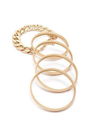 Solid Bangle & Chain Bracelet Set | Forever 21