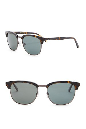 Ted Baker London Polarized 54mm Clubmaster Sunglasses