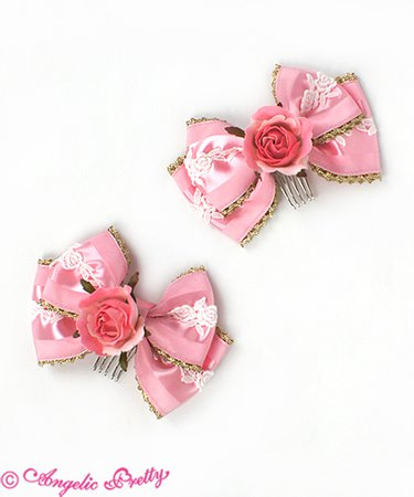 Rose Princess Combs - Angelic Pretty