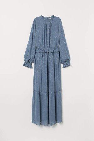 Long Ruffled Dress - Blue