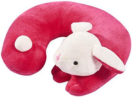 Amazon.com: Fun Voyage Kids Super Soft Plush Travel Neck Pillow (Bunny): Home & Kitchen