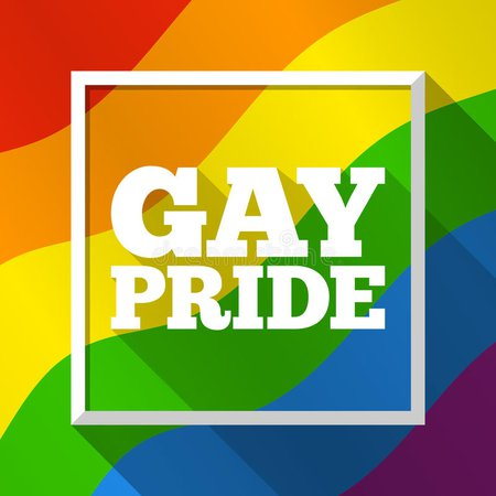Gay Pride Rainbow Background. Vector Illustration In LGBT Flag Colors. Modern Colorful Template