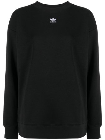 Black adidas embroidered logo sweatshirt GD4313 - Farfetch