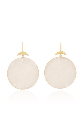 Annette Ferdinandsen Crystal Drusy Luna Earrings