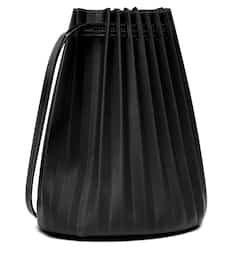 Pleated Leather Bucket Bag - Mansur Gavriel | Mytheresa