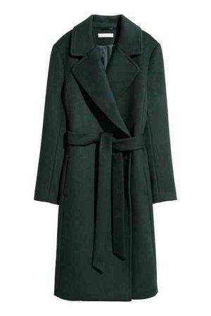 H&M Green Wool-blend Coat