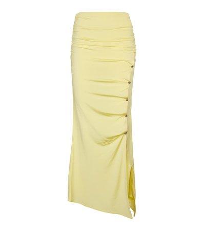 Acne Studios - Asymmetric ruched skirt | Mytheresa