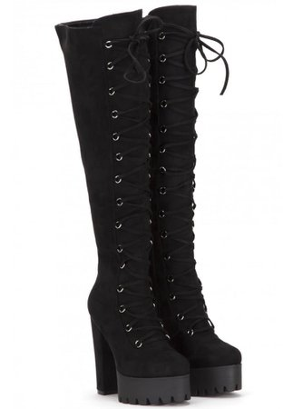 Corset Lace-Up Over The Knee Boot