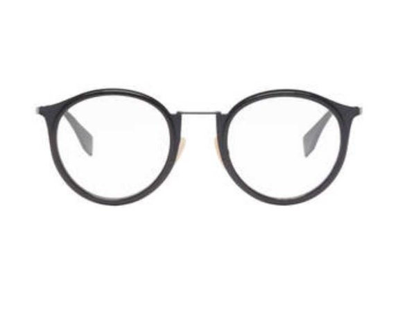 Fendi Grey Round Glasses