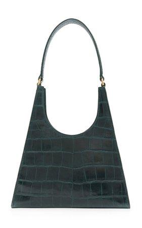 Rey Croc-Effect Leather Shoulder Bag By Staud | Moda Operandi