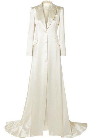 Danielle Frankel   Jean silk and wool-blend satin coat   NET-A-PORTER.COM