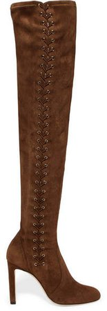 Marie 100 Stretch-suede Over-the-knee Boots - Tan