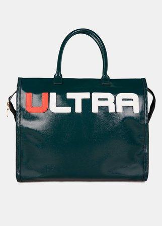 Bottle green large 'Ultra' tote bag