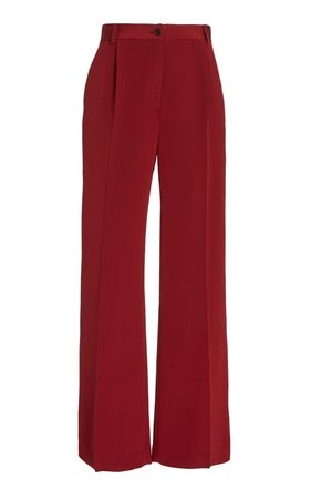 Phoebe Silk Crepe Wide-Leg Trousers by La Collection   Moda Operandi
