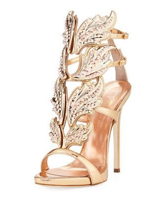 Giuseppe Zanotti Coline Cruel Embellished Wing High Heel Sandals