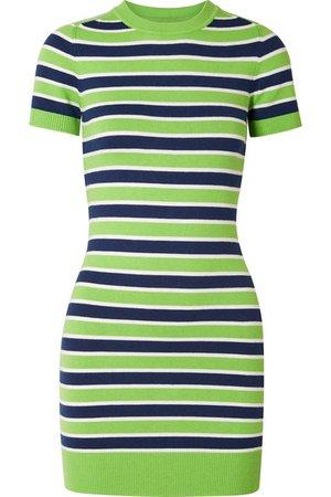 JoosTricot   Striped stretch cotton-blend mini dress   NET-A-PORTER.COM