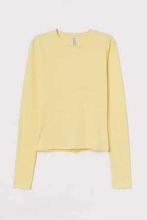 Long-sleeved Top - Yellow